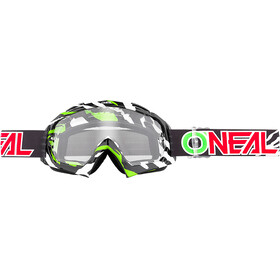 ONeal B-10 Goggle STREAM black/green-clear